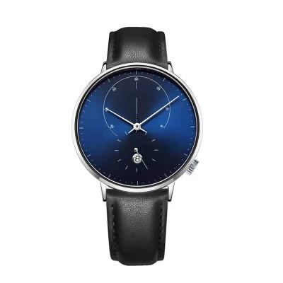 Factory direct sales watches men wrist with custom logo simple genuine leather quartz watch