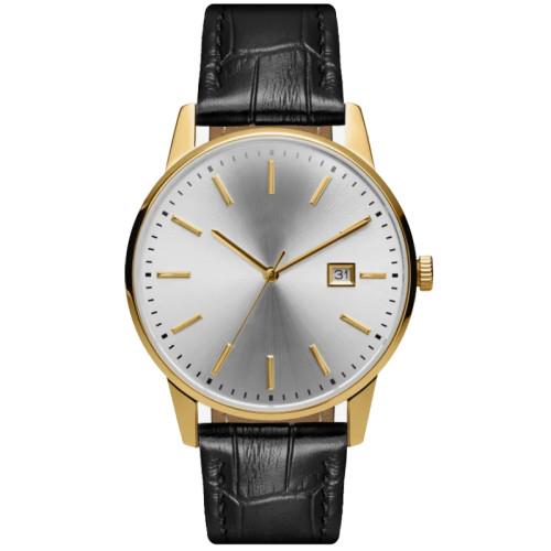 Classic Custom Your Own Brand Minimalist Wrist Watch Men With Crocodile Leather Strap