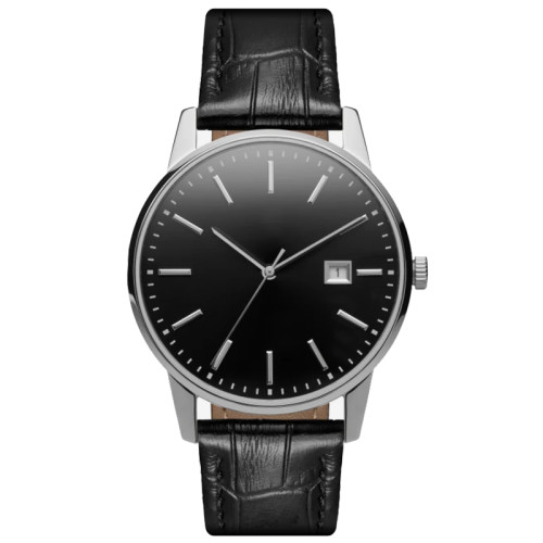 2021 New Men's wrist watch with alligator leather strap