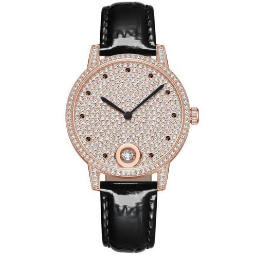 High Quality Luxury Waterproof Leather Full Diamond Watch Stone Women Watch Jewelry For Gift