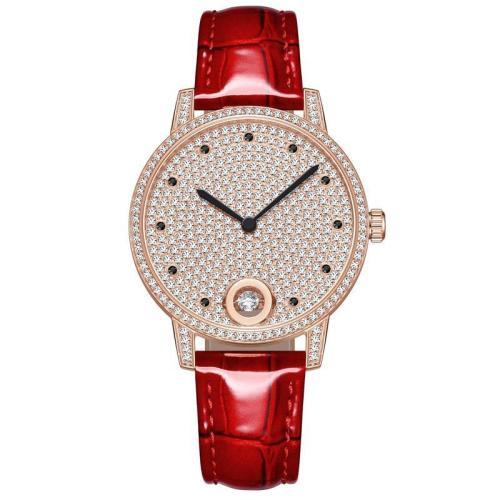 Top Brand Women Watches Luxury Full Diamond Watch Ladies Custom Alloy Band Round Quartz Wristwatch Reloj
