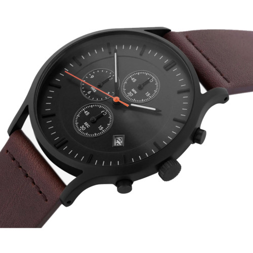 Wholesale OEM custom brand chronograph quartz mens wrist stainless steel watch
