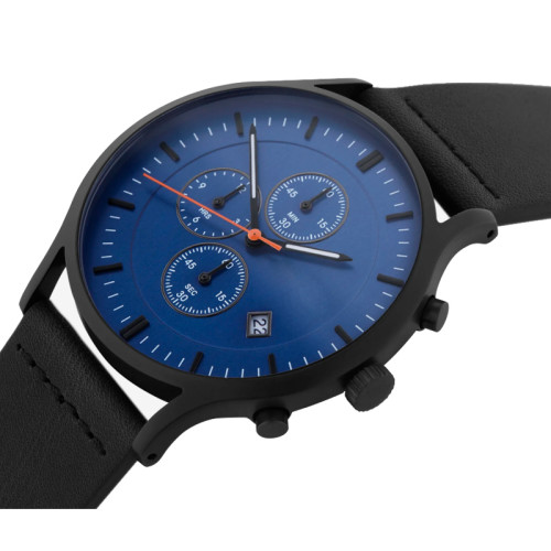 Fashion Chronograph Leather Men Watch Leather Chronograph Watch