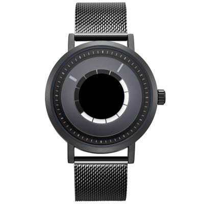 Custom brands watch OEM men's stainless steel case black dial wristwatch waterproof chronograph business men watches