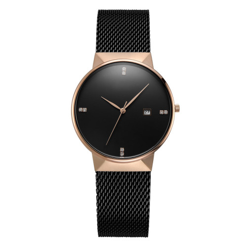 2021 Fashion Luxury Custom Logo Leather Strap Minimalist Watch Men Women Wrist Quartz Watches