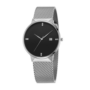 Minimalistic Watch Custom Logo Brand  Fancy Gentleman Classic Watch Stainless steel Strap Wrist Watch For Men