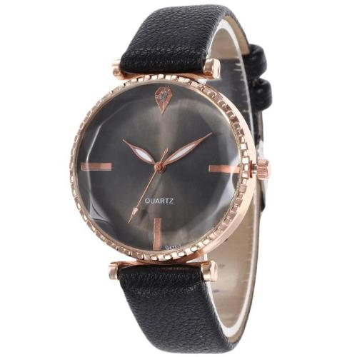 Top brand luxury crystal women elegant watches genuine leather lady waterproof quartz wrist watch
