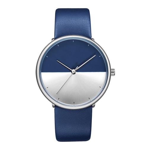Custom Logo Low Moq High Quality Men Simple Wood Watch Leather Strap Wristwatch Quartz Watches