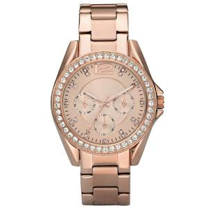 High Quality Luxury Automatic Diamond Case Stainless Steel Three Eyes Business Women Quartz Watches