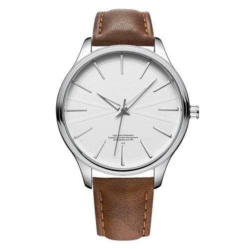 New 2021 Hot Sell Wholesale Custom Logo Super Thin Wrist Watches Men