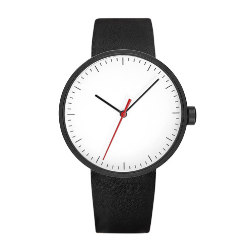 Custom Logo High Quality Alloy Leather Strap Minimalist Mineral Glass Ultra-thin Watches for Men