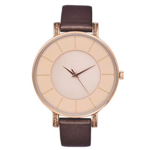 New Design Private Label Wrist Custom Logo Women Multi Color Quartz Watches Leather Simple Lady Watch