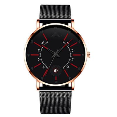 New Simple Design Waterproof Stainless Steel Mesh Small Dial Men Watches Top Brand Luxury Quartz Watch