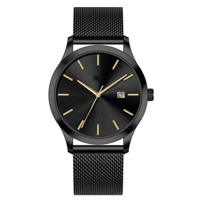 Oem Sunray Face Minimalist Luxury Brand Custom Logo Chronograph Men Quartz Watch