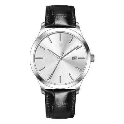 Cheap Unisex Minimalist Simple Watch High Quality Fashion Black Quartz Leather Wristwatch