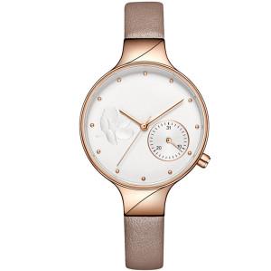 Fashion elegant waterproof women's watch business flower dial office lady quartz watches