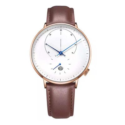 New 30 Meters Water Resistant Watch Automatic Mechanical Luxury Leather Strap Chinese Movement Men Watches