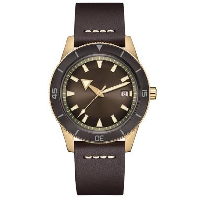 Vintage Watches Waterproof Custom Brand Wrist Watch Chronograph Quartz Leather Luminous Retro Men Watch