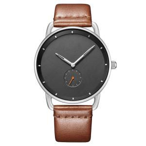 Luxury Minimalist Wholesale OEM Analog Classic Stainless Steel Back Quartz Clock Men Watch