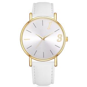 Fashion Leather Analog Clock Elegant Waterproof Wristwatch Office Lady Classic Quartz Watches Women Watch