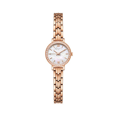 low moq small round slim seal shell pearl dial diamonds watch for women