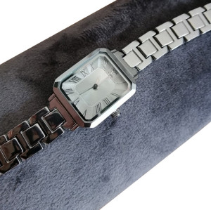 In stock women lady small square shape watch with chain band