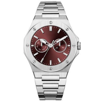 Fashion Custom Quartz Watch Men's Luxury OEM Stainless Steel Luminous Waterproof Men Watches