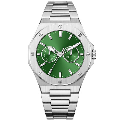 Stainless Steel Custom Logo Quartz Watch Men's Luxury OEM Fashion Luminous Waterproof Watches