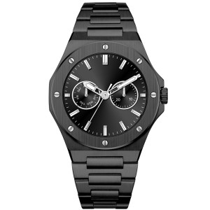 Mechanical Stainless Steel Quartz Watch Male Luxury OEM Fashion Luminous Waterproof Men's Wrist Watches