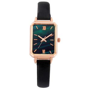 women wristwatch brown leather strap square watch ladies fashion small watch