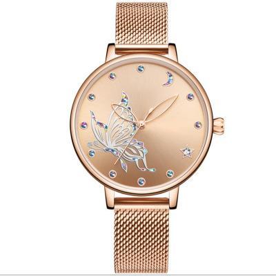Fashion Daily Dress leather band quartz lady watches waterproof elegant women wristwatches