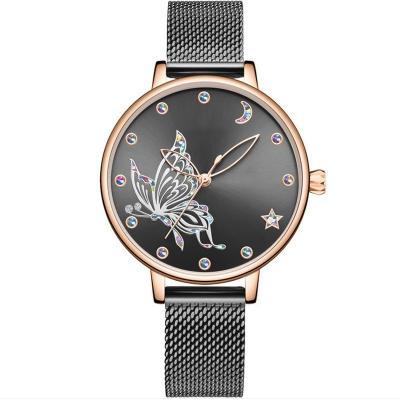 2021 new design watch lady mechanical automatic stainless mesh mechanical women watch