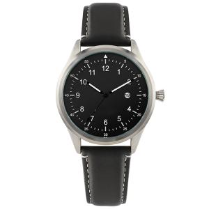 Custom oem minimalist luminous genuine luxury brand dial movement mens wristwatches leather straps watch