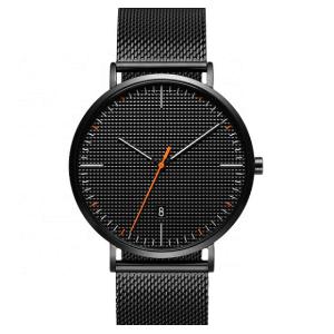 fashion quartz wristwatch high quality 304 stainless steel black cheap watches men wrist