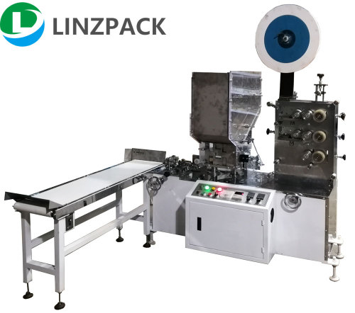 Single paper straw packaging machine