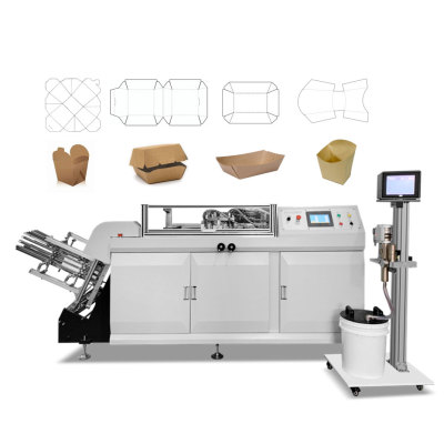 Paper burger box making machine