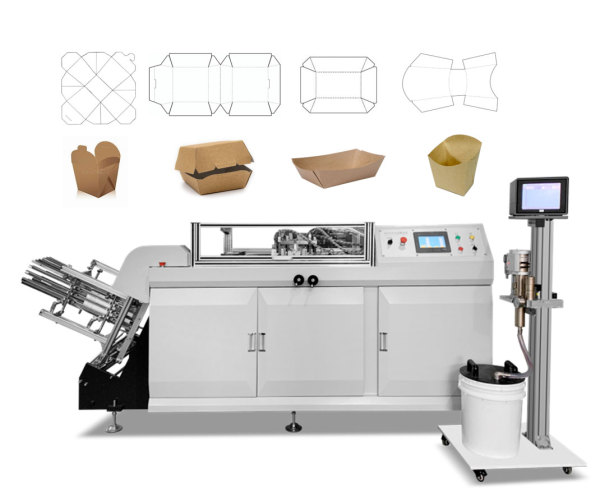 Paper burger box making machine
