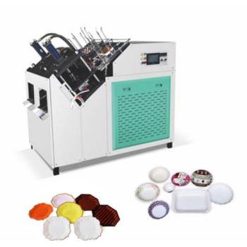 Dual station paper plate making machine