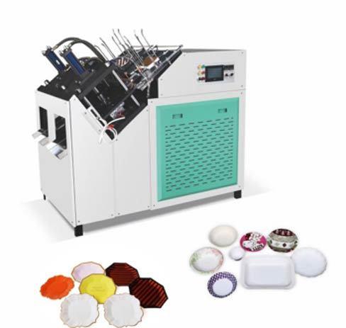 Dual station paper plate making machine