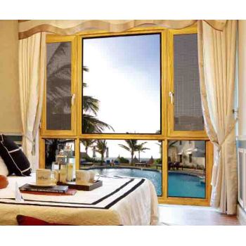 100 Thermal break Casement Window with mosquito net