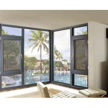120 Thermal break Casement Window with mosquito net