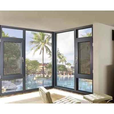 120 Thermal break Casement Window with mosquito net