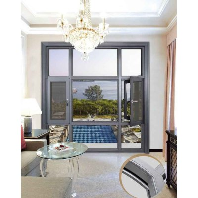 137 Thermal break Casement Window with mosquito net