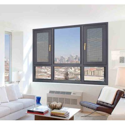150 Thermal break Casement Window with mosquito net