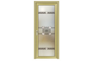washroom golden yellow door