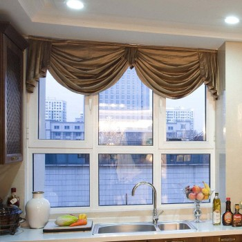 Double Tempered Glass Alu Aluminum  Bay and Bow Window