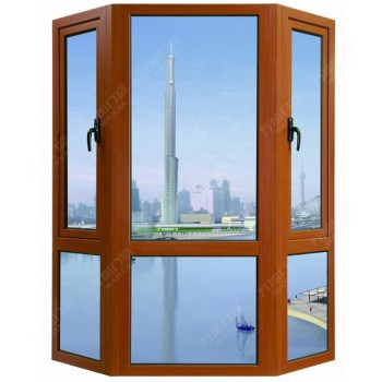 New Design Australia Standard  Aluminium Frame Double Glass Bay and Bow Window  For Sale