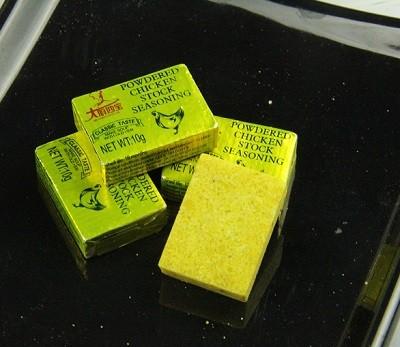 Caldo de pollo filete sopa cubos condimento calorías recetas fabricante