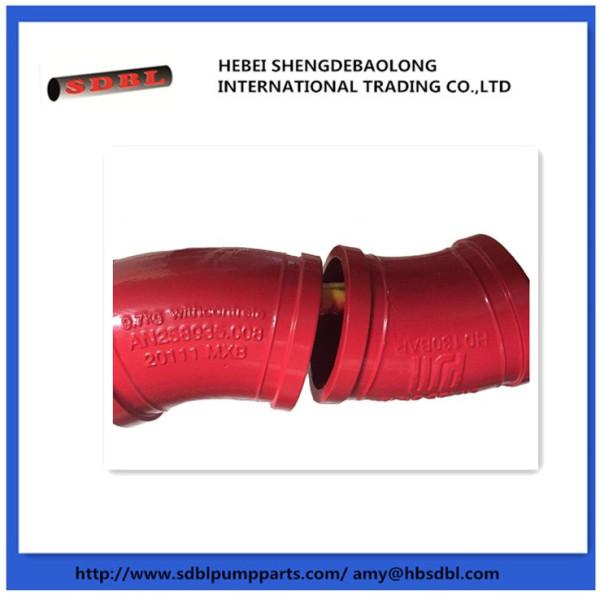 Concrete pump single wall cast elbow