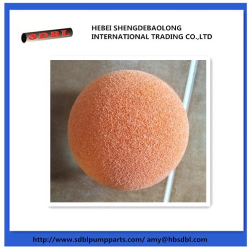 concrete pump Spong cleaning ball and cleaning bullet